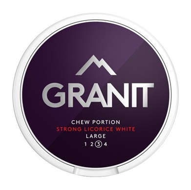 Granit Strong Licorice Chewing Bags